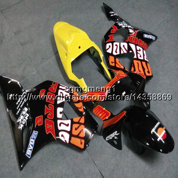 23 colores + Tornillos paneles de motocicleta repsol amarillo Kit de carrocería para HONDA CBR954RR 2002 2003 CBR 954 RR 02 03 Carenado del motor ABS