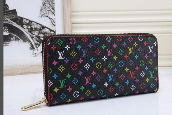 F15 New selling women bag retro wonen long wallet hollowed out wallet Leather Womens Wallet