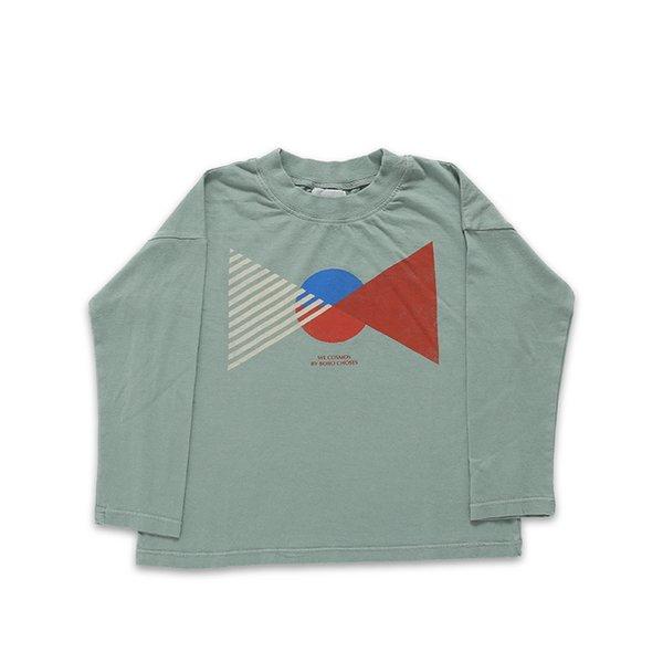 Grey Green T shirt