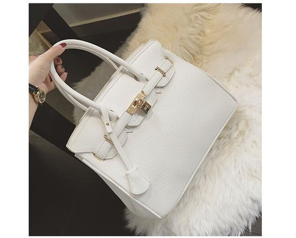 New Fashion atmosphere zipper Platinum bag ladies lychee pattern handbag female shoulder bag large capacity diagonal