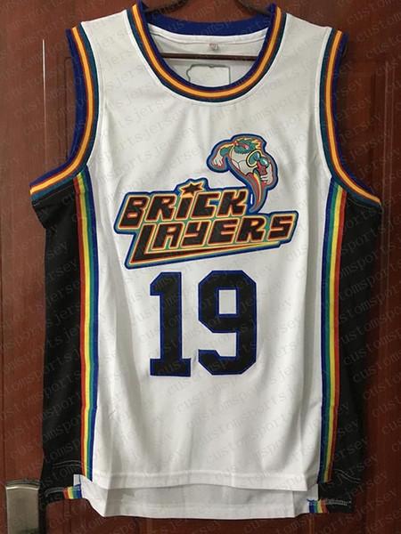 Aaliyah 19 Bricklayers Basketball Jersey White White Cheap Basketball Jersey