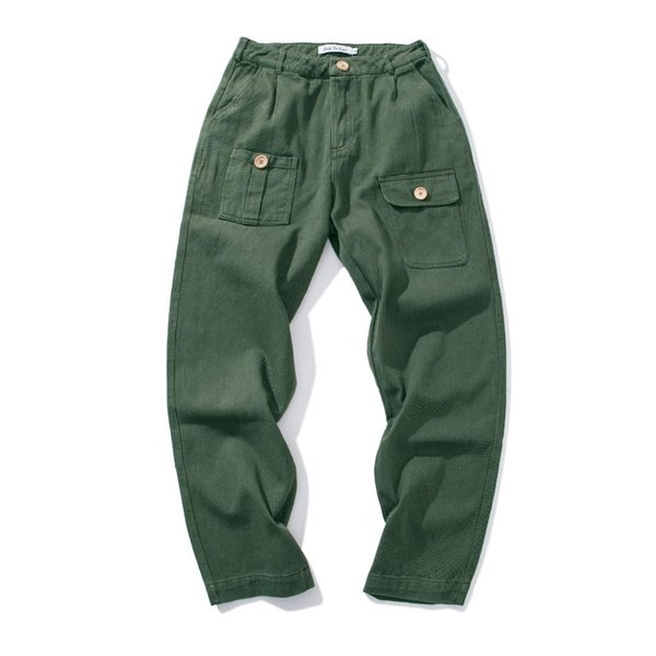 Men Relaxed Fit Cargo Pant Reg and Big and Tall Sizes Button Pocket Cotton