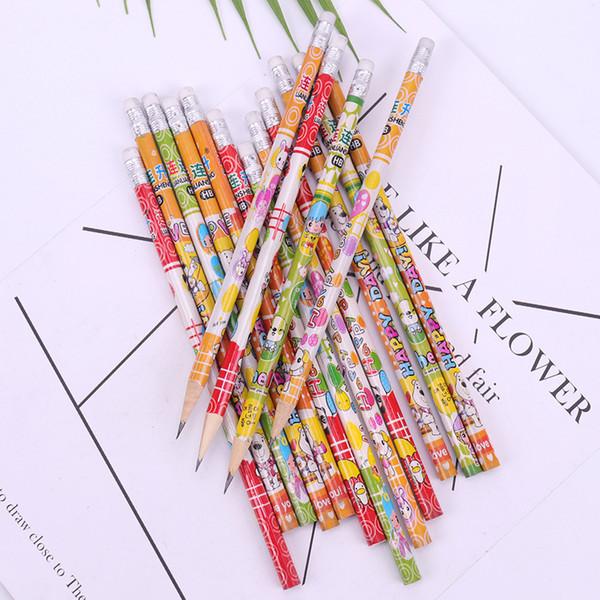 10PCS Pencil Cartoon Pencil Stationery Items Drawing Supplies Cute Basswood Pencils For School Office School
