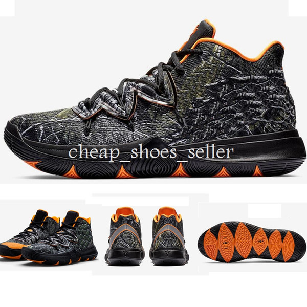 2019 New Kyrie shoes Kyries 5 Taco PE Basketball Shoes A02918-901 Kyrie Irving Black Purple Green Gold Magic Mens Sports Sneakers Size US13