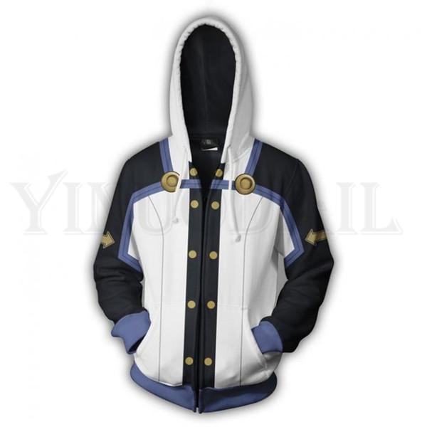 Anime Sword Art Online Hoodie Men and Women Zipper Hoodies SAO Kirigaya 3d Print Hooded Jacket Harajuku Streetwear Cosplay