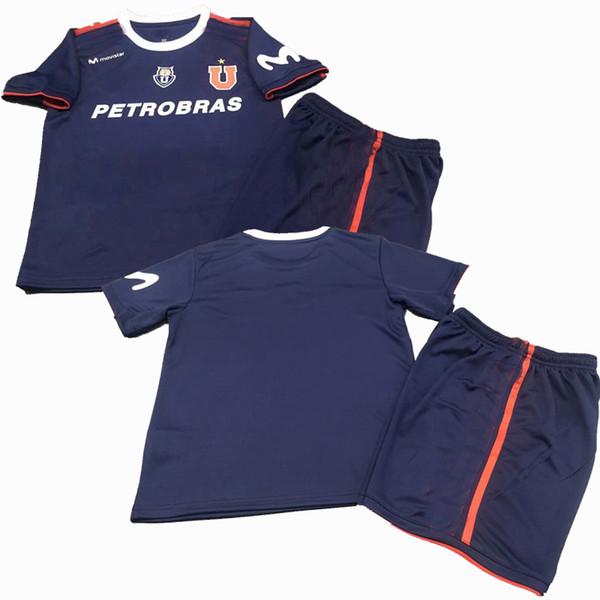 2019 2020 Club Universidad de Chile Soccer Jerseys sets Tracksuits 19 20 football boys shirt+shorts