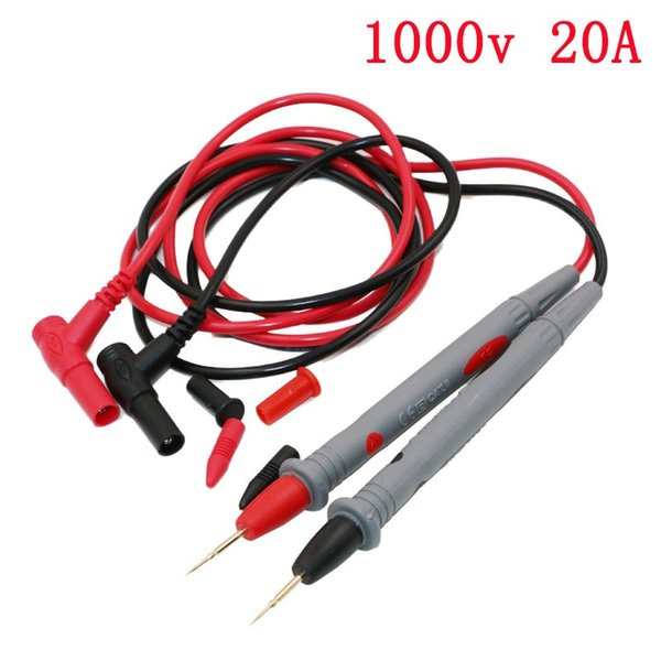1 Par Universal Sonda de Teste Leva Pin para Multímetro Digital Ponta Medidor de Ponta Multímetro Tester Sonda Chumbo Cabo Pen 20A