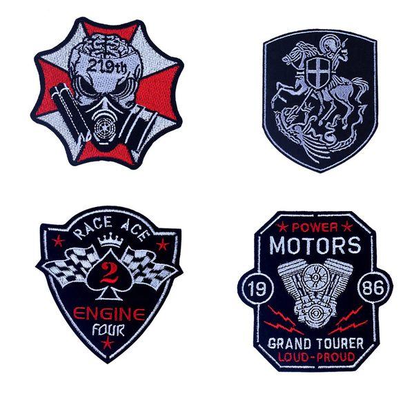 Панк вышивка патч гонки ACE мотоцикл автолюбитель значок шитья одежды 100 ШТ. Утюг на патчи для куртки