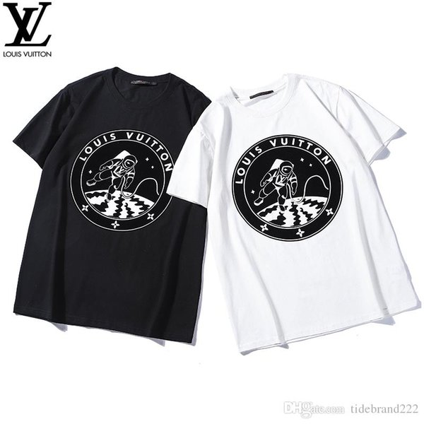 fe9d181dd14a 2019 New Fashion Designer T Shirt Mens T Shirt LV new plant velvet print  astronauts on