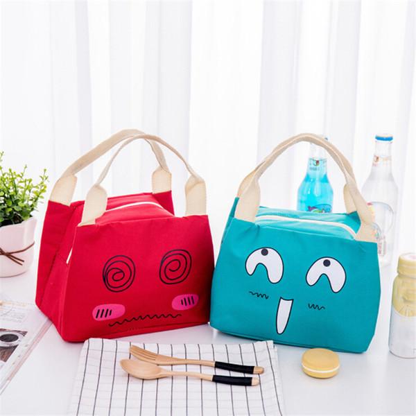 Cute Portable Insulation Women's Children Men Refrigerated Lunch Box Bag New Picnic Lunch Bag Oxford Cloth Handbag