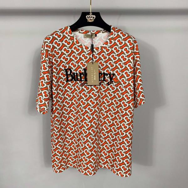 T-shirt Explosivo das Mulheres Cheia De Cartas E Costura Imprime Tendências Da Moda Deusa Essencial Verso Magro Coreano