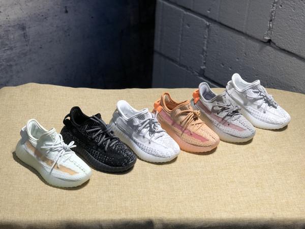 """Adidas Yeezy Boost 350V2 EF2905""""Static"""" Infant 35 500 v2 Kids Runs Hyper Space TrueForm Clay Kleinkinder Laufschuhe Plyknit Sneakers Kinder Jungen Mädchen Trainer"""