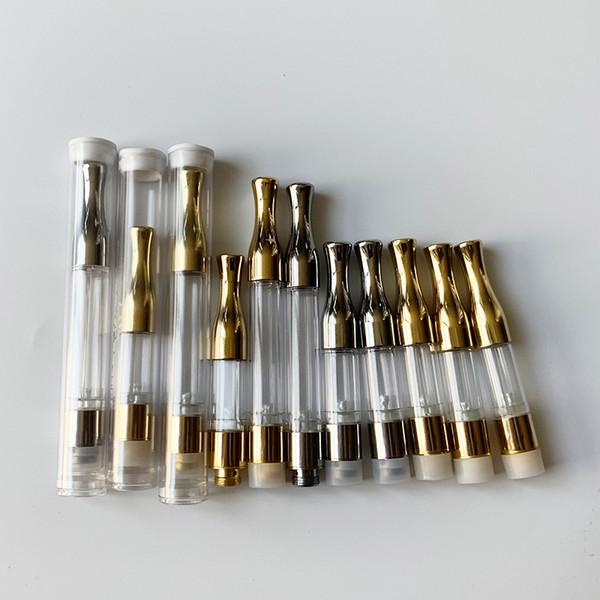 All'ingrosso G2 Cartuccia Vape Pen vuoto 510 filo oro metallo di plastica punte a goccia Wick Coil Dab Wax vaporizzatore atomizzatore