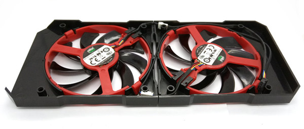 Original for XFX R9 380 380X R9 370 370X RX460 560 Graphics Card Cooling Shell and Fan