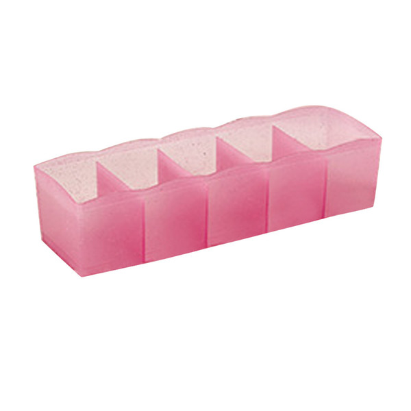 Storage Boxes 5 Cells Plastic Organizer Clothes Box Tie Bra Socks Drawer Cosmetic Divider Tidy Containers Dropshipping