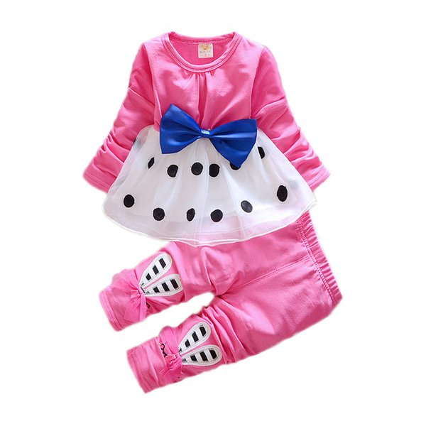 Kids Baby Girl suit Casual Clothing Set Cartoon Long Sleeve Autumn Spring Children's lovely Suit 1 2 3 4 Years Children Clothes