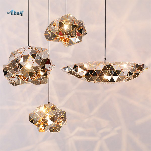 Nordic Stainless Steel Profiled Pendant Lights E27 Led Bar Kitchen Lights Hanging Luxury Dining Room Decor Modern Design Lamp