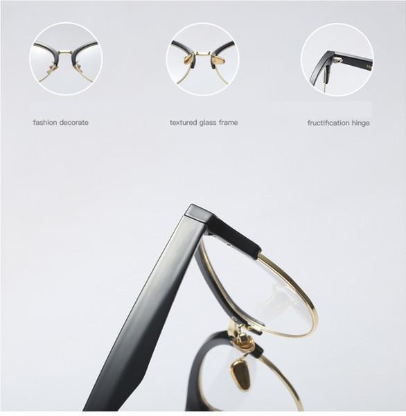 Creux des yeux gros-chat Cadres Lunettes femmes Trendin Half Fashion Frame optique Computer lunettes 45640