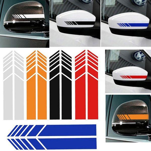 1 Pair / 2 Adet Araba Styling Oto Araba Styling Oto Grafik Sticker Dikiz Aynası Yan Çıkartması Şerit DIY Vücut Çıkartmaları