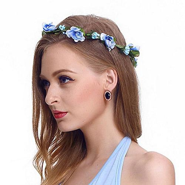 corolla headdress flower crown bride plastic flower wreath for hair floral headband hair accessories head ring - from $2.77