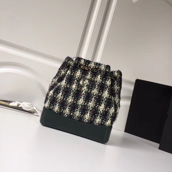 Free shipping new fashion woman bag hot sell designer brand made of knitted material style lady cross body chain bag backpack with 2 colors