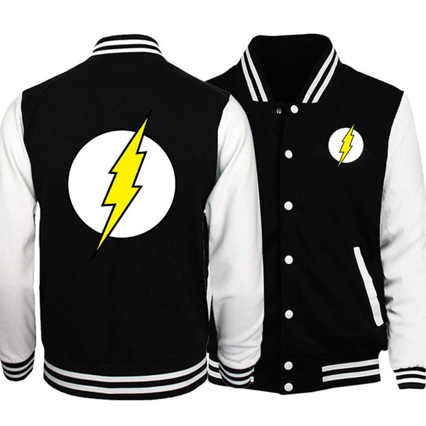 2019 New Men The Flash flight Jacket print men/'s baseball uniform Coat