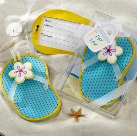"""Free shipping 20pcs/lot Wedding favors """"Flip-Flop"""" Beach-Themed Luggage Tag IN TWO TYPE"""