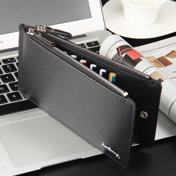 Men business card holder Wallet Large Capacity Bifold Money Purse Male Cash Coin Pocket fashion gift FFA1685