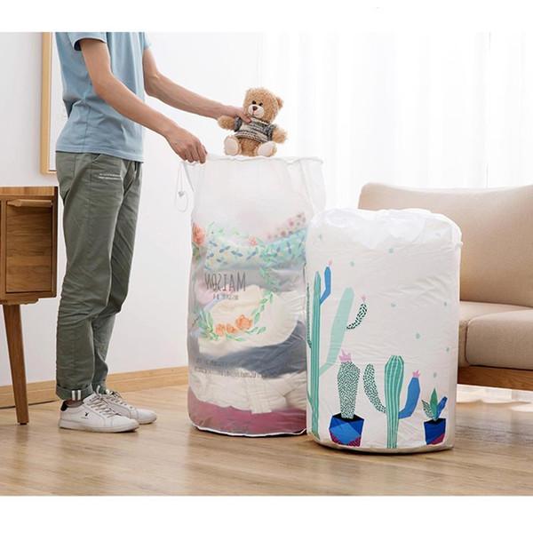 Foldable Storage Bag Clothes Blanket Quilt Closet Sweater Organizer Box Portable Bag Holder Organizer #11030