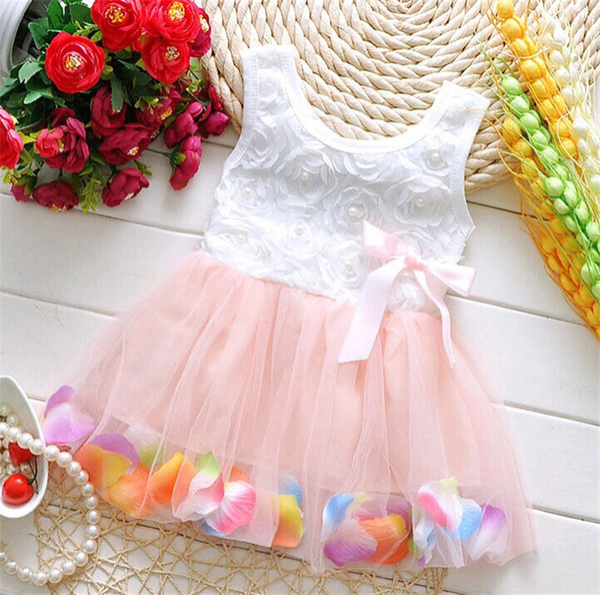 1-4Y Summer Girl Dress Flower Tutu Vestidos Children Clothing Toddler Kids Clothes Casaco Casual Baby Girls Princess Dresses