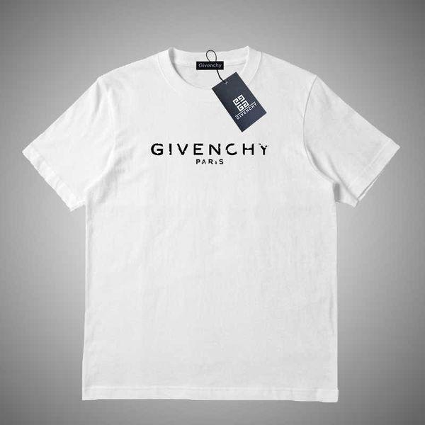 Givenchy Estate Mens T shirt di marca Designers magliette con lettere traspirante manica corta da uomo SUPERA IL T-shirt all'ingrosso