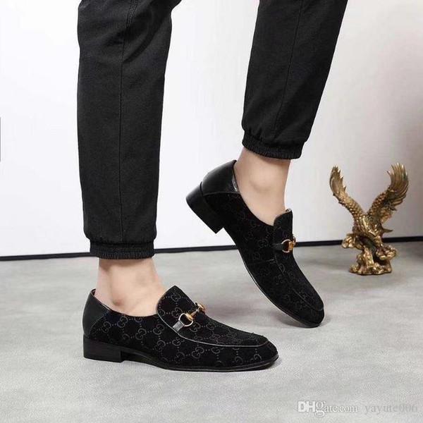 18ss Luxus Herren Müßiggänger Lederschuhe Kleid Hochzeit Lässig Spaziergang Schuhe Büroarbeit Made in Italy Schuhe Tops Size38-45
