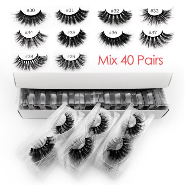 Ресницы Mix 40 пар