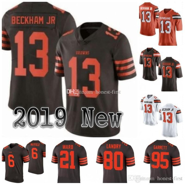 71d6f0ba3 13 Odell Beckham Jr Cleveland 6 Baker Mayfield 31 Nick Chubb Browns Jersey  5 Tyrod Taylor