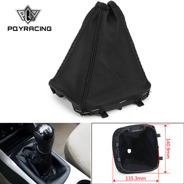 best selling PQY - Lever Gaiterstick Gaiter Gear Shift Boot Cover For Ford Transit Van MK7 2006-2013 Car Gear Shift Collars PQY-SBC14