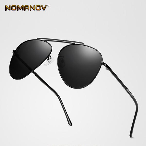 Nuovo design Doppio ponte Occhiali da vista a breve Occhiali da sole a specchio polarizzati Custom Made Miopia Minus da 1 a 6