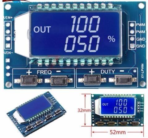 PWM-Pulsfrequenz-Einschaltdauer des Signalgenerators Einstellbares Modul LCD-Anzeige 3,3V-30V PWM-Platinenmodul