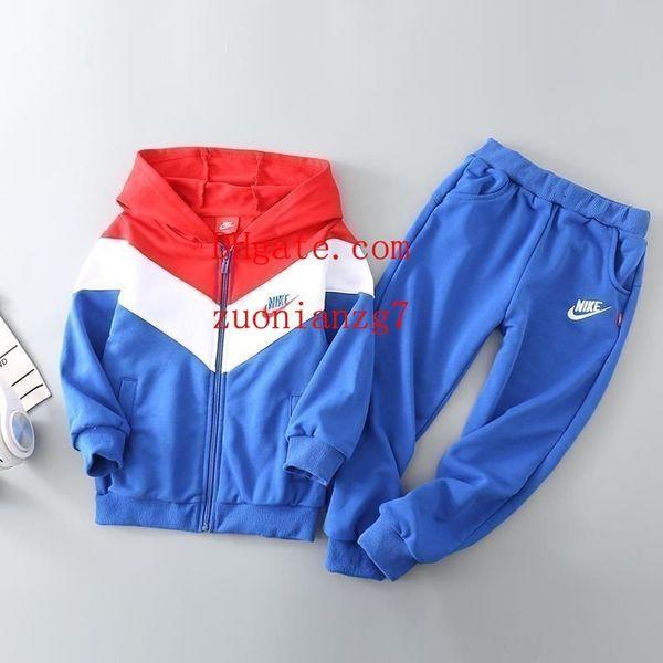 4f1c23ff0f45f Bébé fille garçon enfants vêtements de sport ensemble fermeture à glissière  manteau tops pantalon 2pcs survêtement