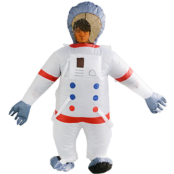 Adult Inflatable Outer Space Astronauts Costume Women Men Outfits Halloween Carnival Fancy Dress Unisex Party Mascot