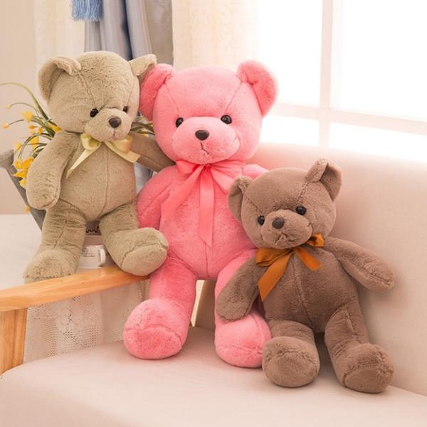 10 Los colores bastante felpa osos de peluche de los niños unisex de la fiesta de cumpleaños para Animal relleno lindo y bodas para niños oso suave Juguetes