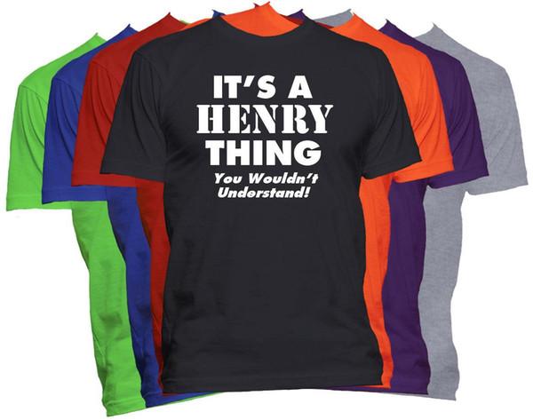 HENRY Sobrenome T-Shirt Camisa Nome Personalizado Camisa Reunião de Família S-5XL