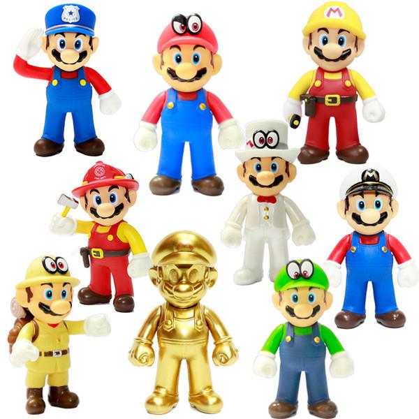 Alta Qualidade New 8 estilo Super Mario Bros Odyssey Action Figure Toy Presentes para crianças 12 centímetros