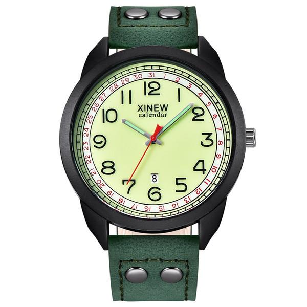 Pelle orologi di moda New Fashion semplice orologi da uomo quarzo della vigilanza degli uomini di sport casuali MaleWristwatc relogio masculino # 111137