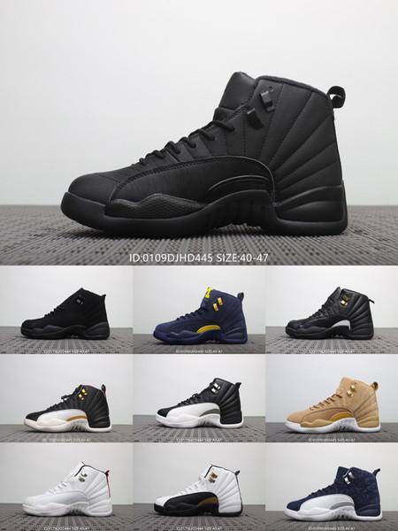 12 Erkek spor ayakkabı RTR MICHIGAN NRG MICHIGAN TAKSİ DUYURUSU 12 S GS GYM KIRMIZI CNY ÇİN YENİ YIL DB DB DOERNBECHER basketbol ayakkabıları