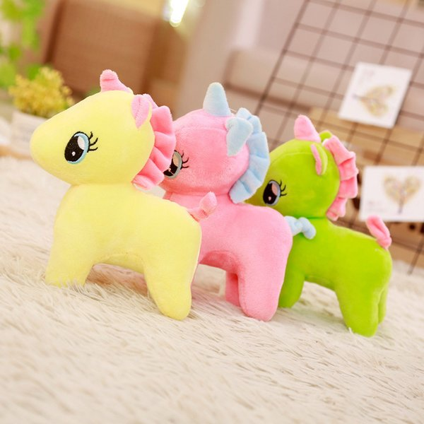 Unicorn Doll PlushToys for Little Girls Pillow Cute Pony Doll Children's Birthday Gift Girl Cute Party Supplies Craft Onesie Decorations