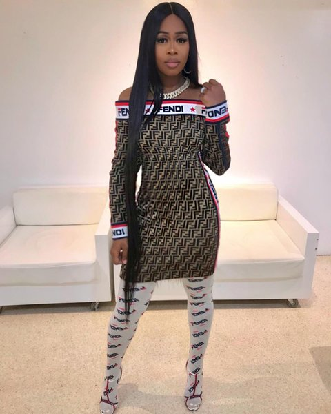 FF mulheres saia de manga curta Mid-Calf vestido strapless bodycon cor sólida estilo elegante de uma peça vestido de moda sexy muliticolors saia klw
