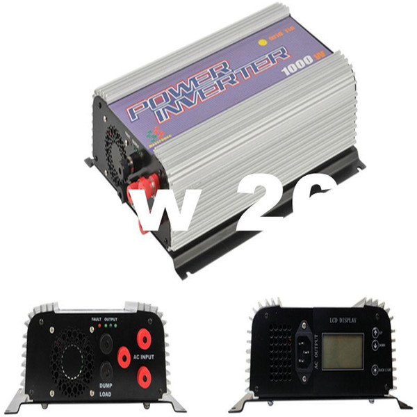 Freeshipping 1000W LCD Wind Turbine Grid Tie Inverter Pure Sine Wave On Grid Inverter for 3phase AC Wind Turbine 22-60/45-90V With Dump Load