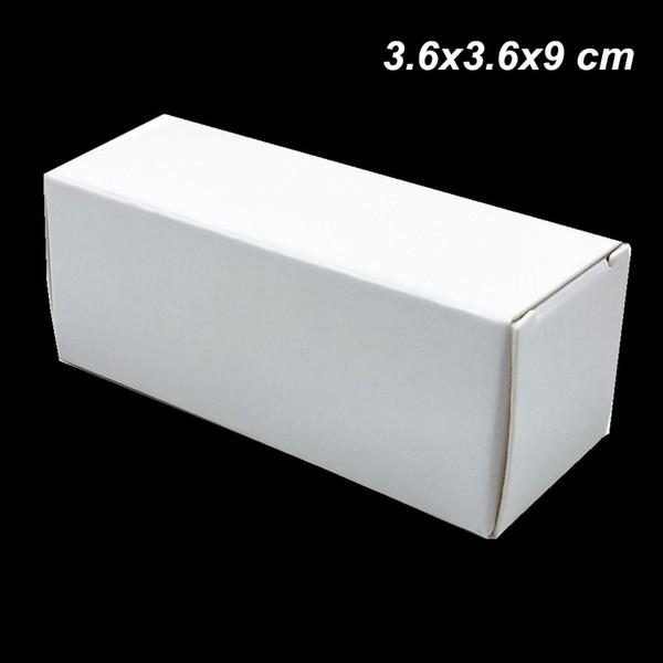 50 Pcs Blanc 3.6x3.6x9 cm Kraft Papier Essentiel 30 ml Bouteille D'huile À Lèvres Bâton Boîte D'emballage Papier Conseil DIY Boîte À La Main pour Parfum Cadeau Cosmétique