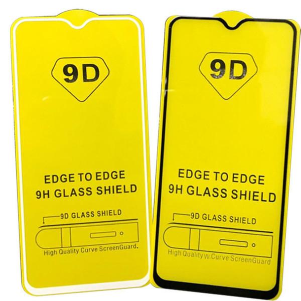 Pellicola proteggi schermo in vetro temperato 6D 9D a copertura totale per bordo MOTOROLA MOTO G7 PLUS G7 POWER G7 PLAY 550PCS / LOT