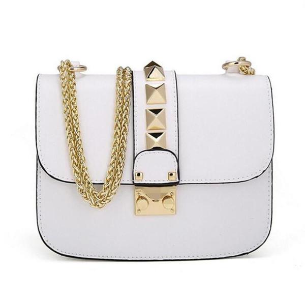 Luxury Designer Handbags High Quality Valentine Italian Genuine Leather Bag Rivet Chain Crossbody Bag Shoulder Bags w206